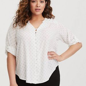 Torrid Harper Button Down Challis Blouse Size 3x